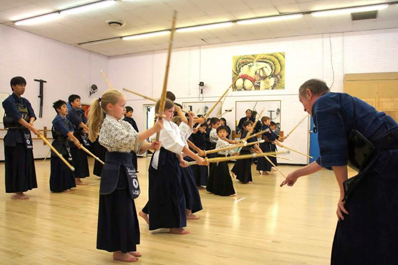 The late Terry Holt Sensei instructing the children's class