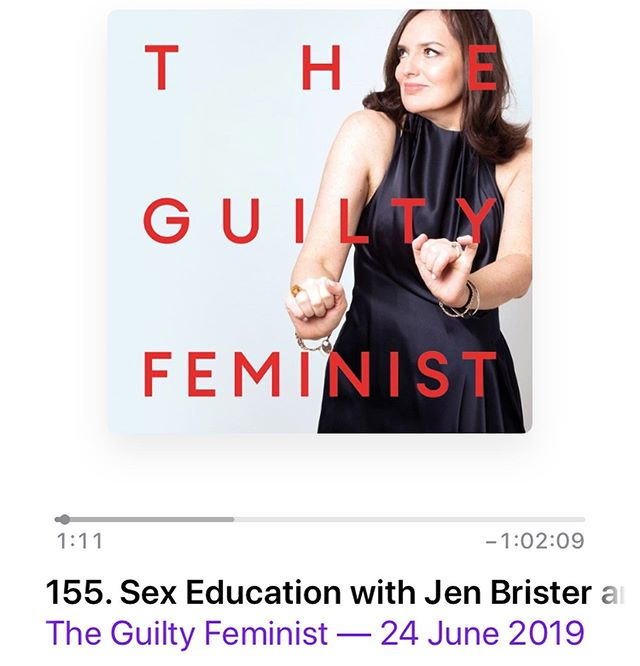 Teaching 'The Talk' joins @carysafoko and @lynnenright on the most recent Guilty Feminist episode discussing all things sex ed! - give it a listen it's not often we hear youth voices LITERALLY given a mic on this issue