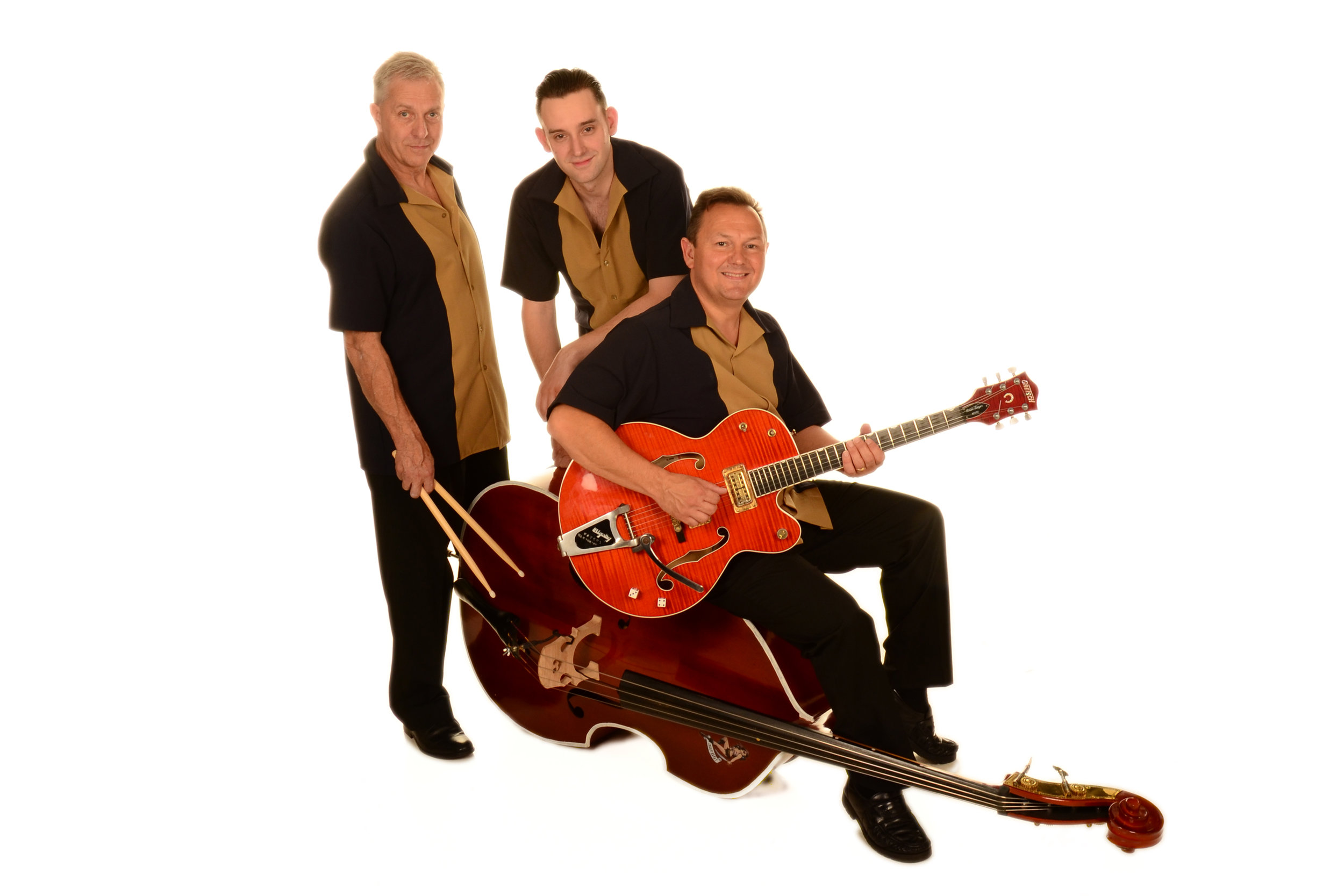 Rockin' The Joint - https://www.rockinthejoint.co.uk//Formed in 2001 in darkest Dorset, three-piece Rockin'the Joint are one of the UK's leading Rock'n'Roll groups.In celebration of the classic music of the Rock'n'Roll years Rockin'the Joint feature songs from key artists such as Elvis Presley, Carl Perkins, Johnny Burnette, Chuck Berry and Eddie Cochran whilst also acknowledging those currently keeping the Rock'n'Roll flame alive including Brian Setzer, The Go-Getters and Darrel Higham.The groups' diverse live shows feature Rockabilly, Doo Wop, Ballads, Boppers and Swing classics that fall within the Rock'n'Roll genre.
