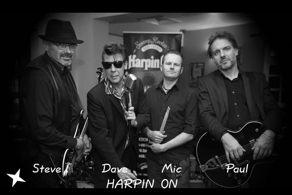 Harpin' On - Harpin' On Webpage LinkHarpin On are a unique Blues Harp led, Swamp Rockin' band playing the live circuit and receiving radio play.The band is a four-piece tight little outfit generating a big sound. Their original songs take influences from blues harp legends such as Little Walter, Slim Harpo along with Elvis and Bo Diddley and Tony Joe White.