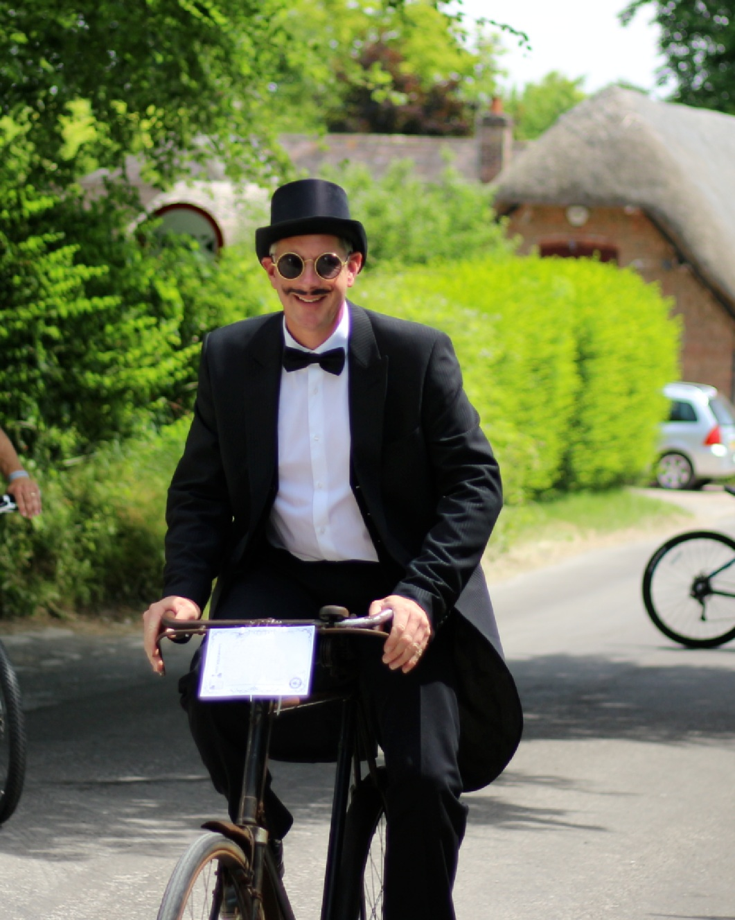 There will be prizes for Best Dressed Gentleman, Lady, Child, Group, Bicycle and Moustache!So why not come along with some jolly friends… - The Ride begins at 12 noon. Registration opens from 10:00 am. We have teamed up with the very popular Velo Domestique who have offered free checks on participant bicycles. Additionally, why not book in with Pearl's Pin Up Parlour who will give you great lips, flicks and hair ready in time for the Ride.During the ride, Marshalls on bicycles and chaps from the Distinguished Gentleman's Ride and Dorset Free Riderz will cruise along with you - keeping an eye on you and the road ahead.