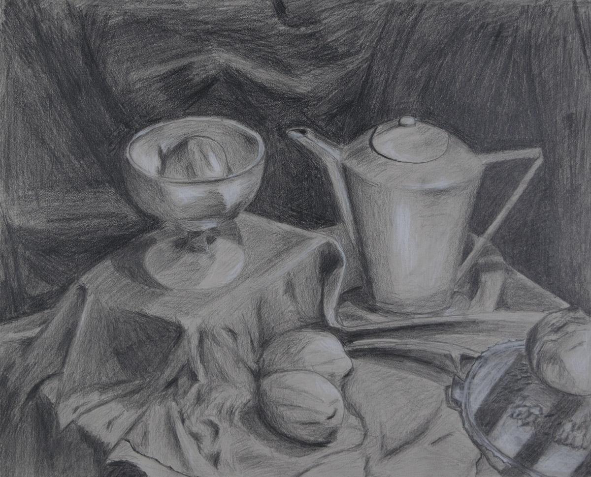 Foundation Drawing, Value Still Life