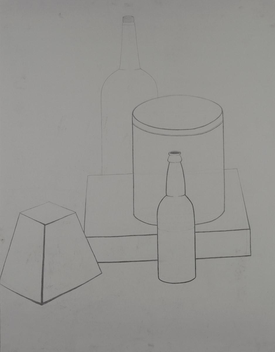 Foundation Drawing, Line Still Life