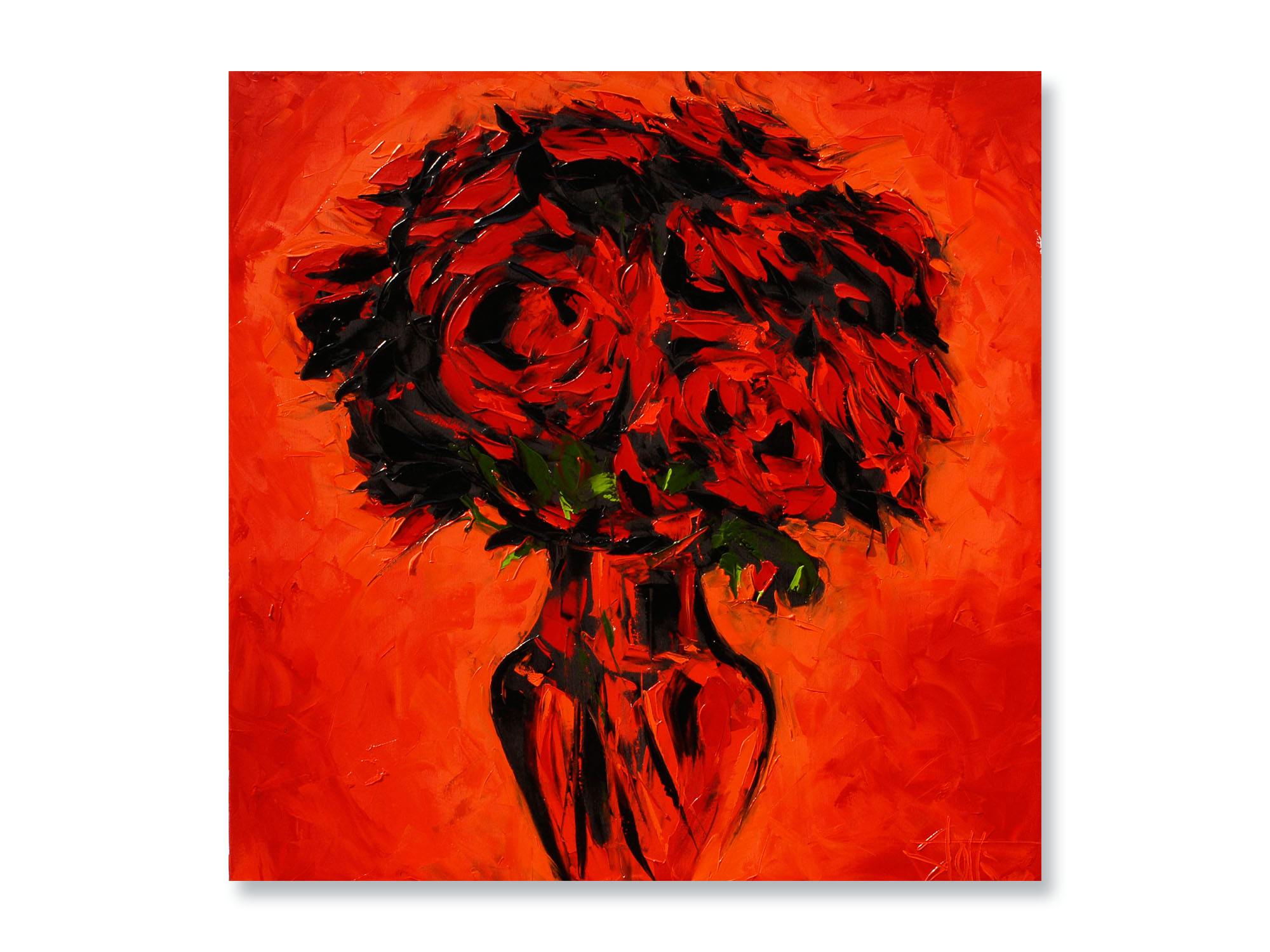 RED ROSES ON RED