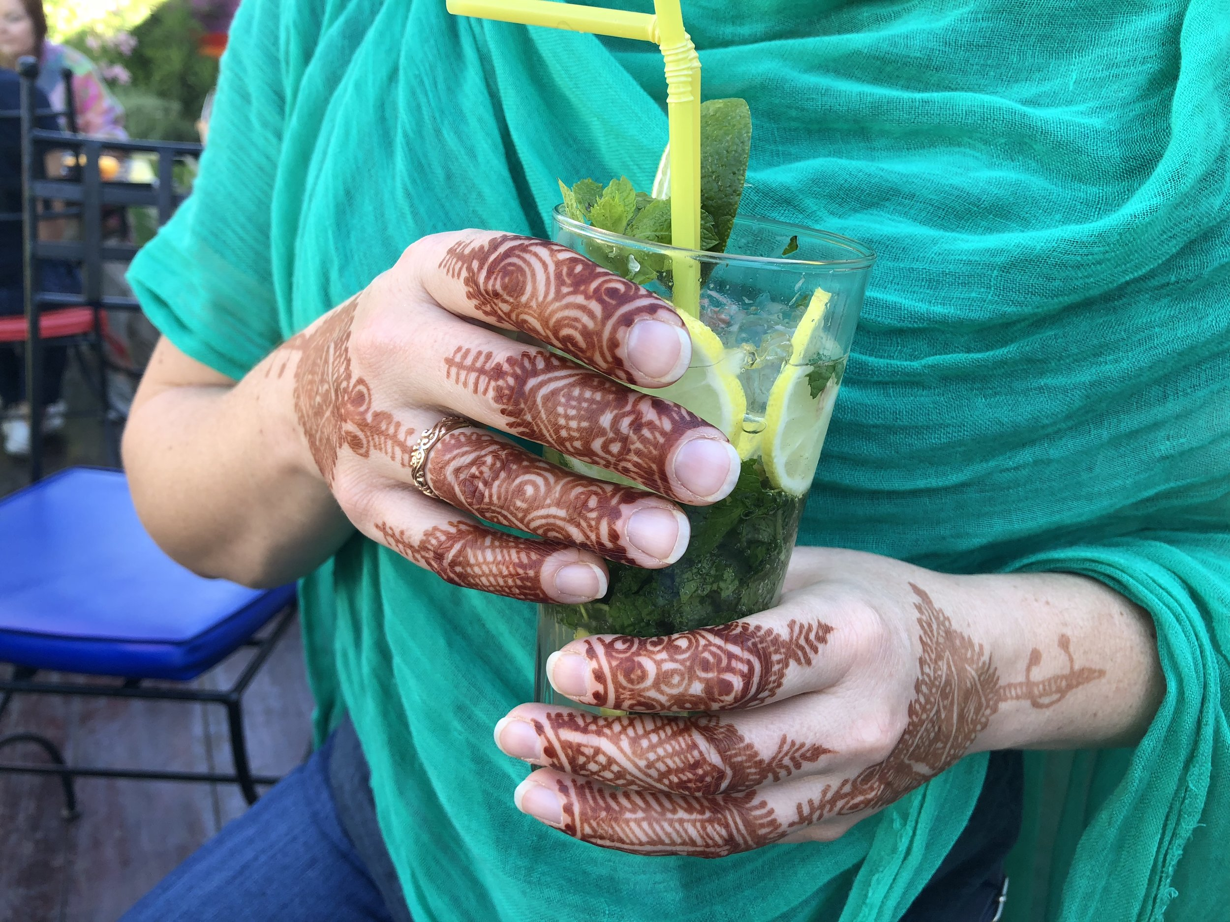 Combining two of my favorite things - henna and Morocco.