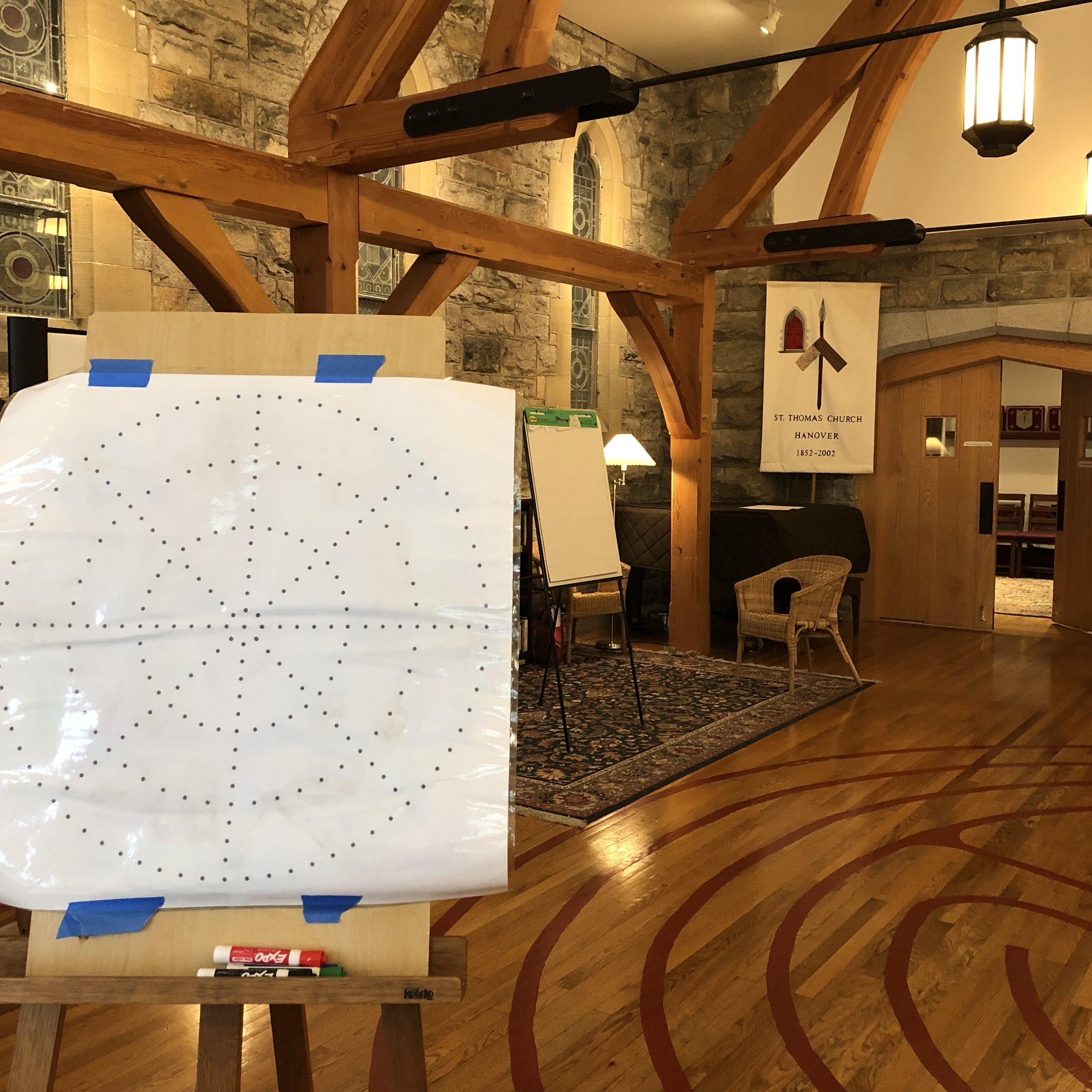 Mandala drawing workshop at St. Thomas Church, Hanover, NH -