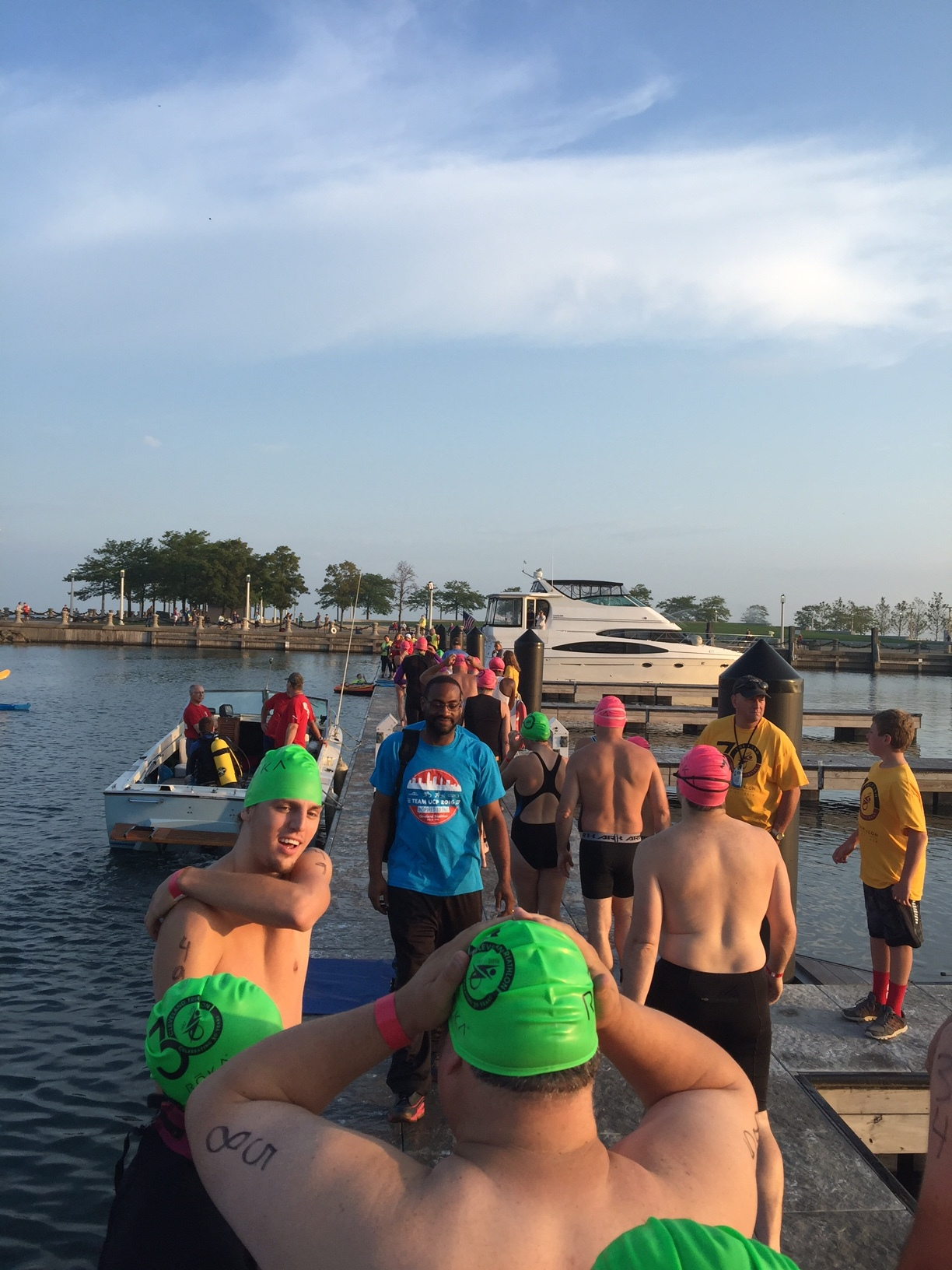 At the Marina prepping for the Swim