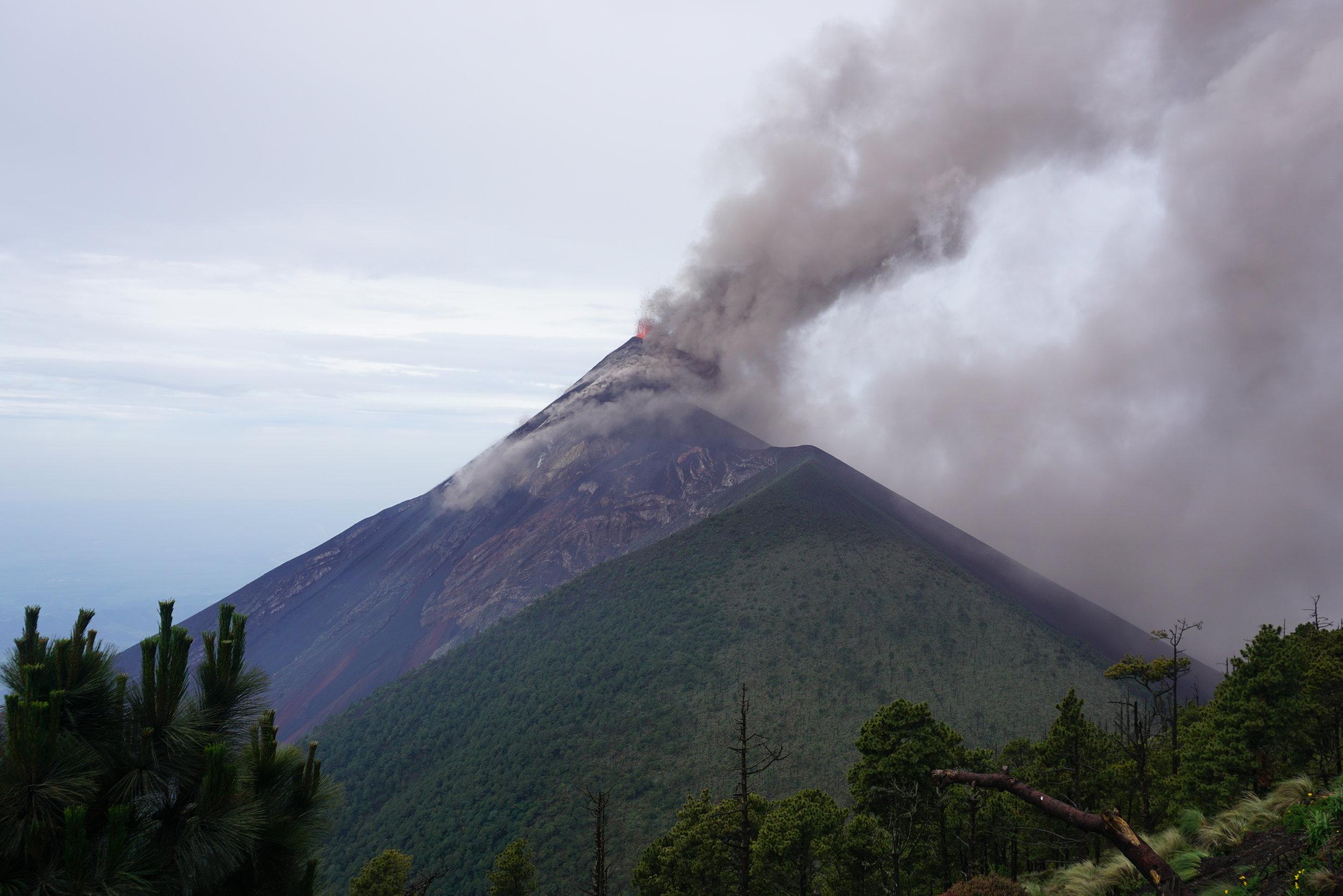 Climbing a Volcano - Volcan Acatenango | Antigua, Guatemala