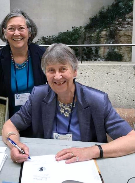 Signing at JASNA AGM, Kansas City, September 2018 with Alice Moore