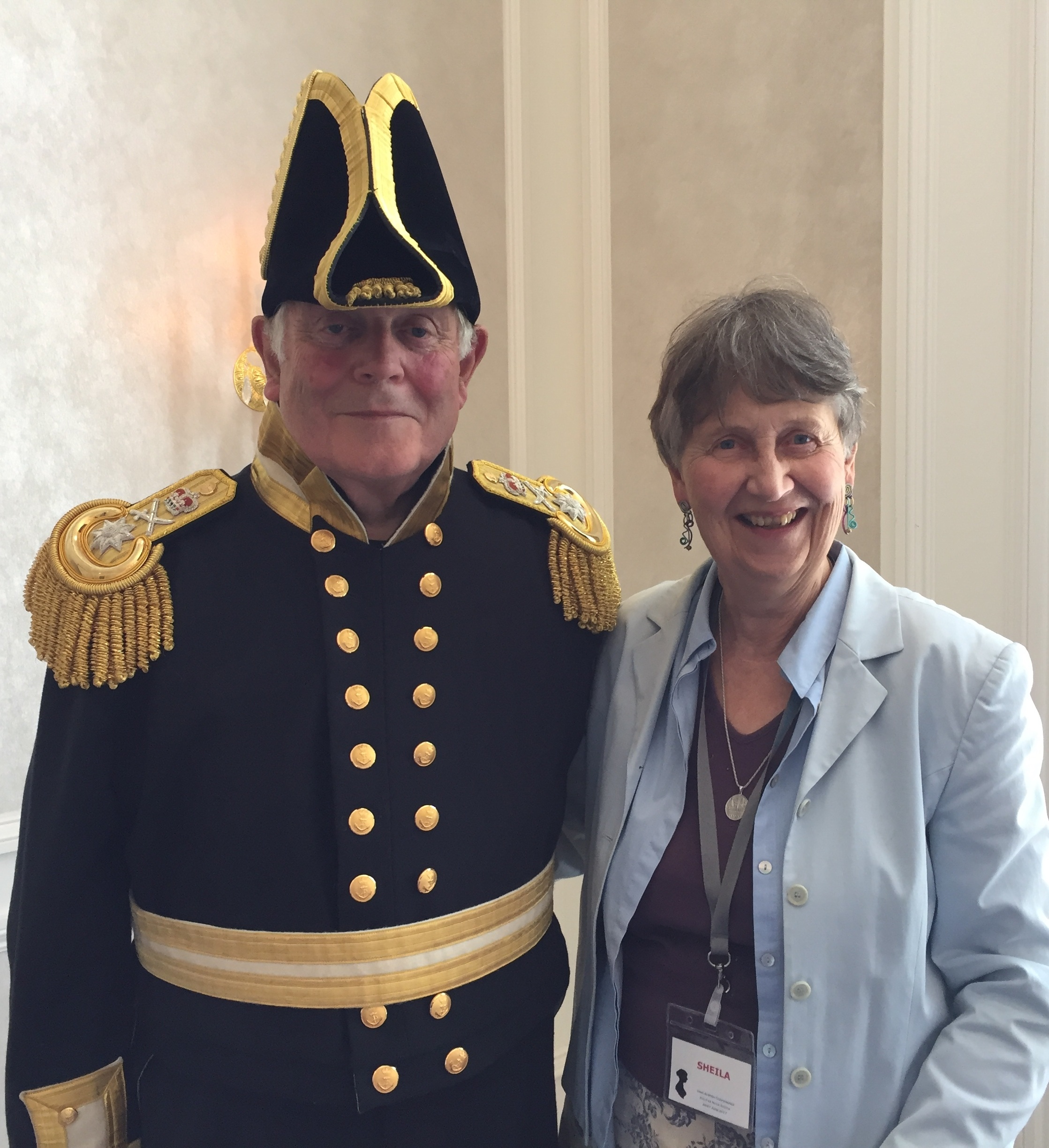 Sheila with Patrick Stokes, direct descendent of Charles Austen