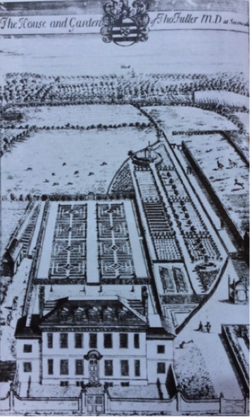 Fig. 3: The Red House when Owned by Dr Fuller (1688-1734), showing Knole in the background