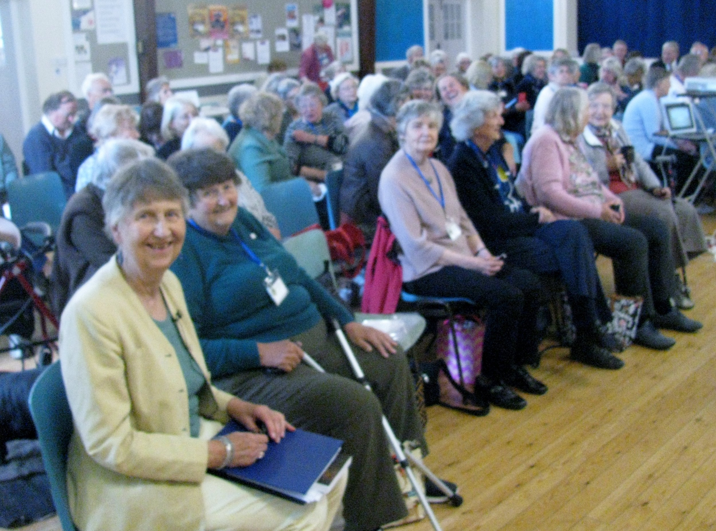 Sheila about to speak in Exeter, UK , 15 June 2019