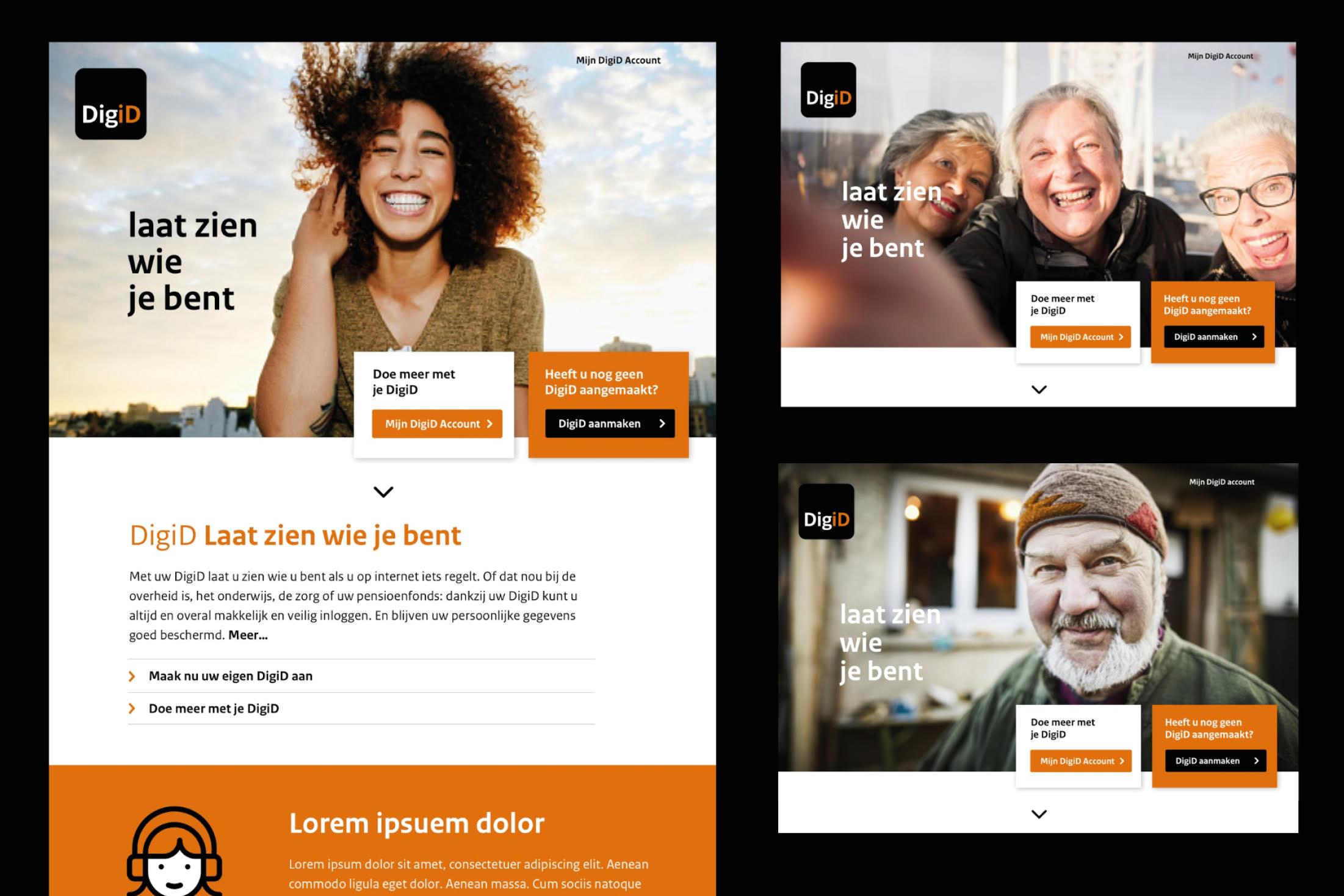 DigiD service design