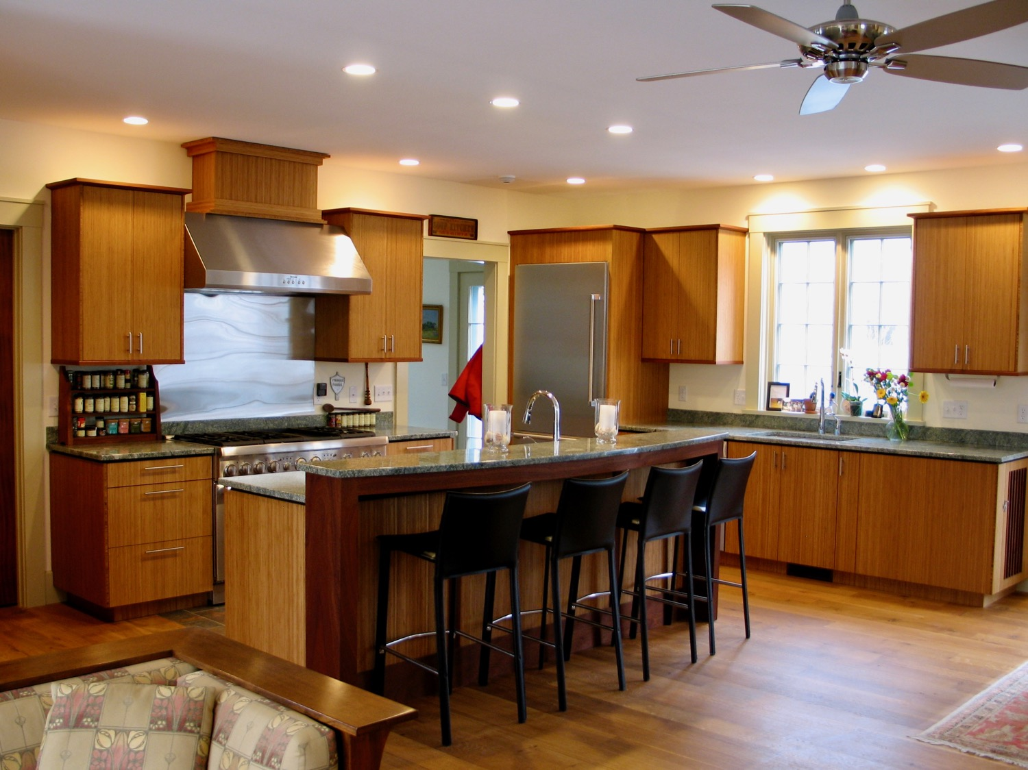 Kelley's - bamboo and sapele kitchen