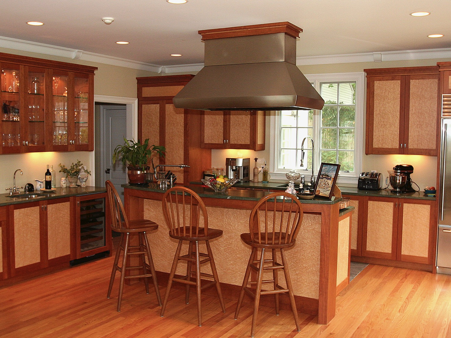 Carl's- cherry and birdseye maple kitchen