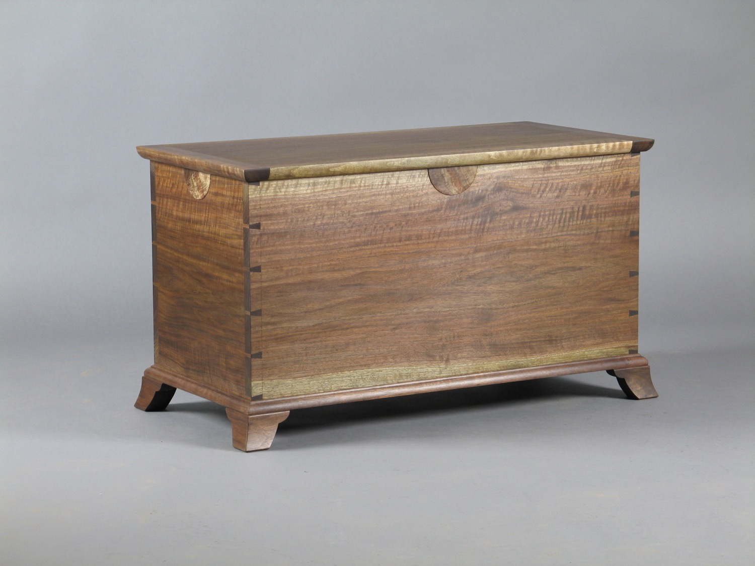 Laird blanket chest - walnut , cut and converted on client's property, one of a pair