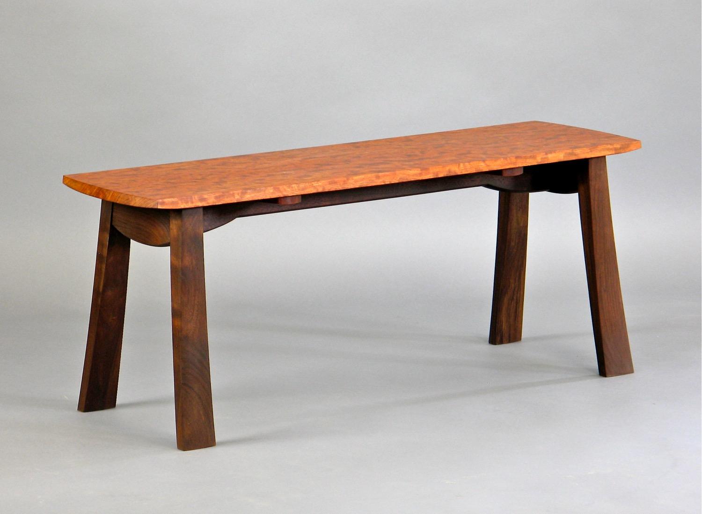 Kainer bench- walnut, bubinga