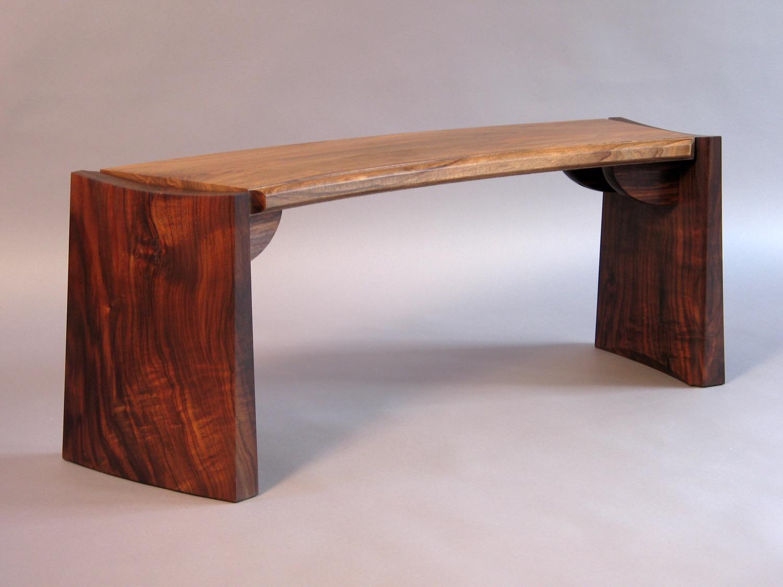 Grove St bench- claro walnut, english walnut