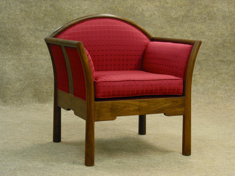 Hayward chair- walnut, upholstery