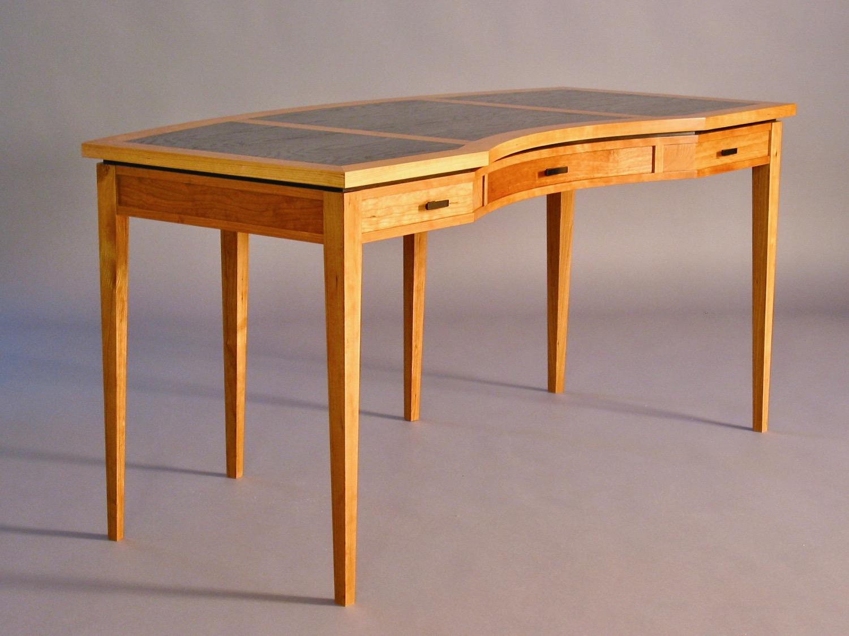 Ridge desk - cherry, bog oak