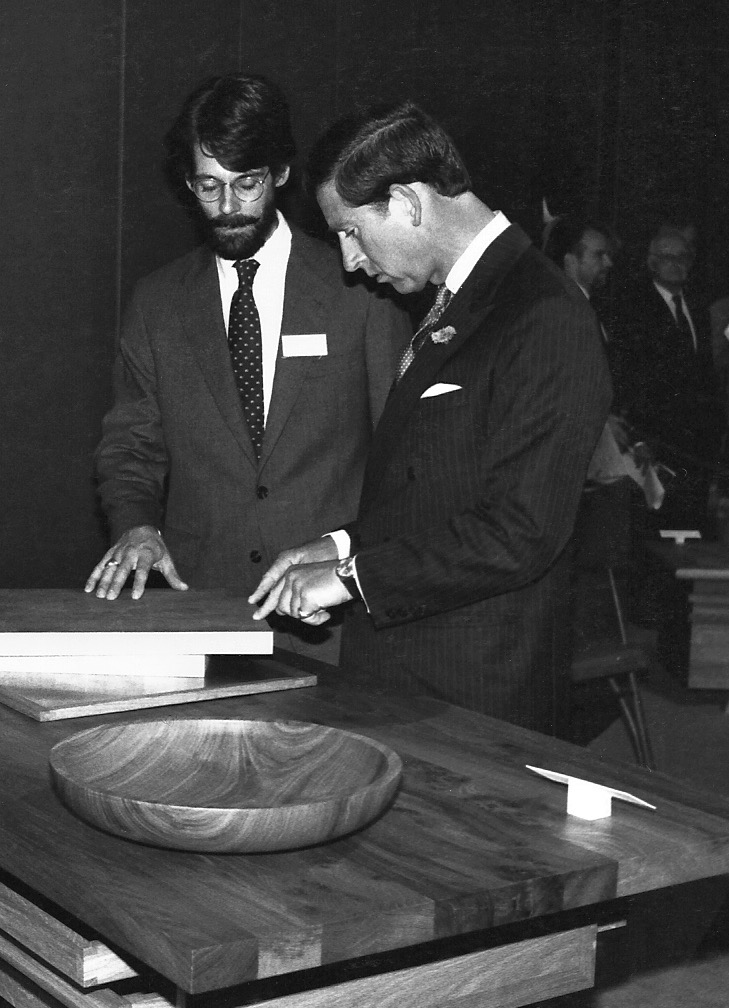 Parnham Exhibition 1992- with Prince Charles at Sothebys, London