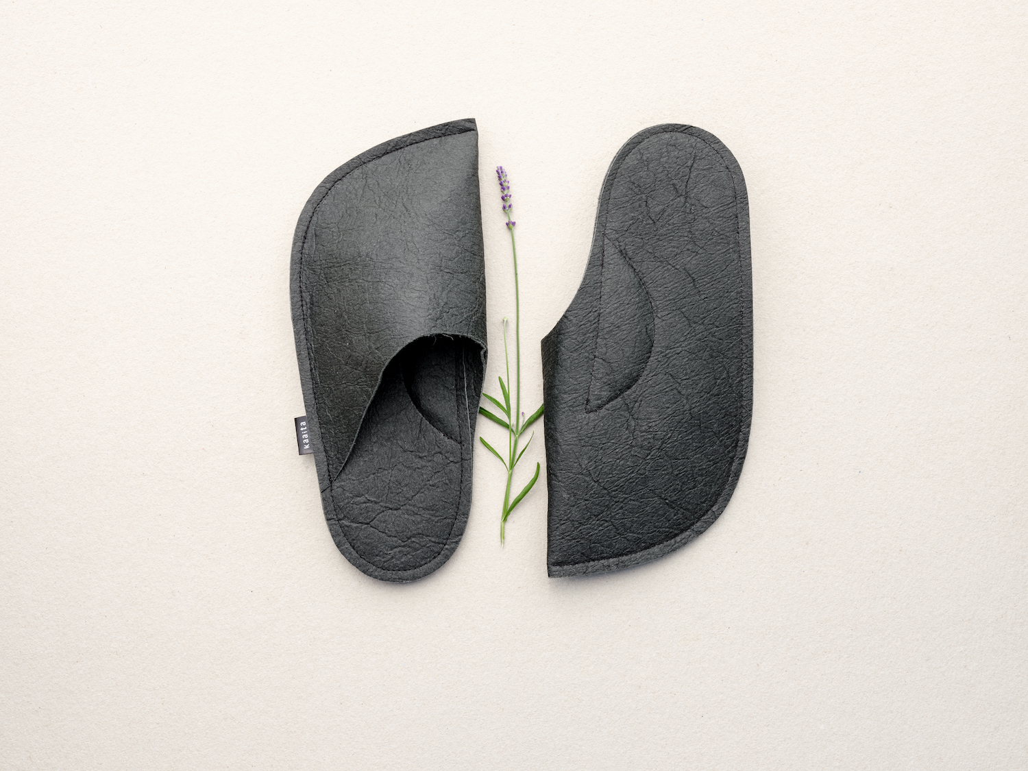Non-slip soles. Lux lavender flowers sewn into the sweet spot of your feet.