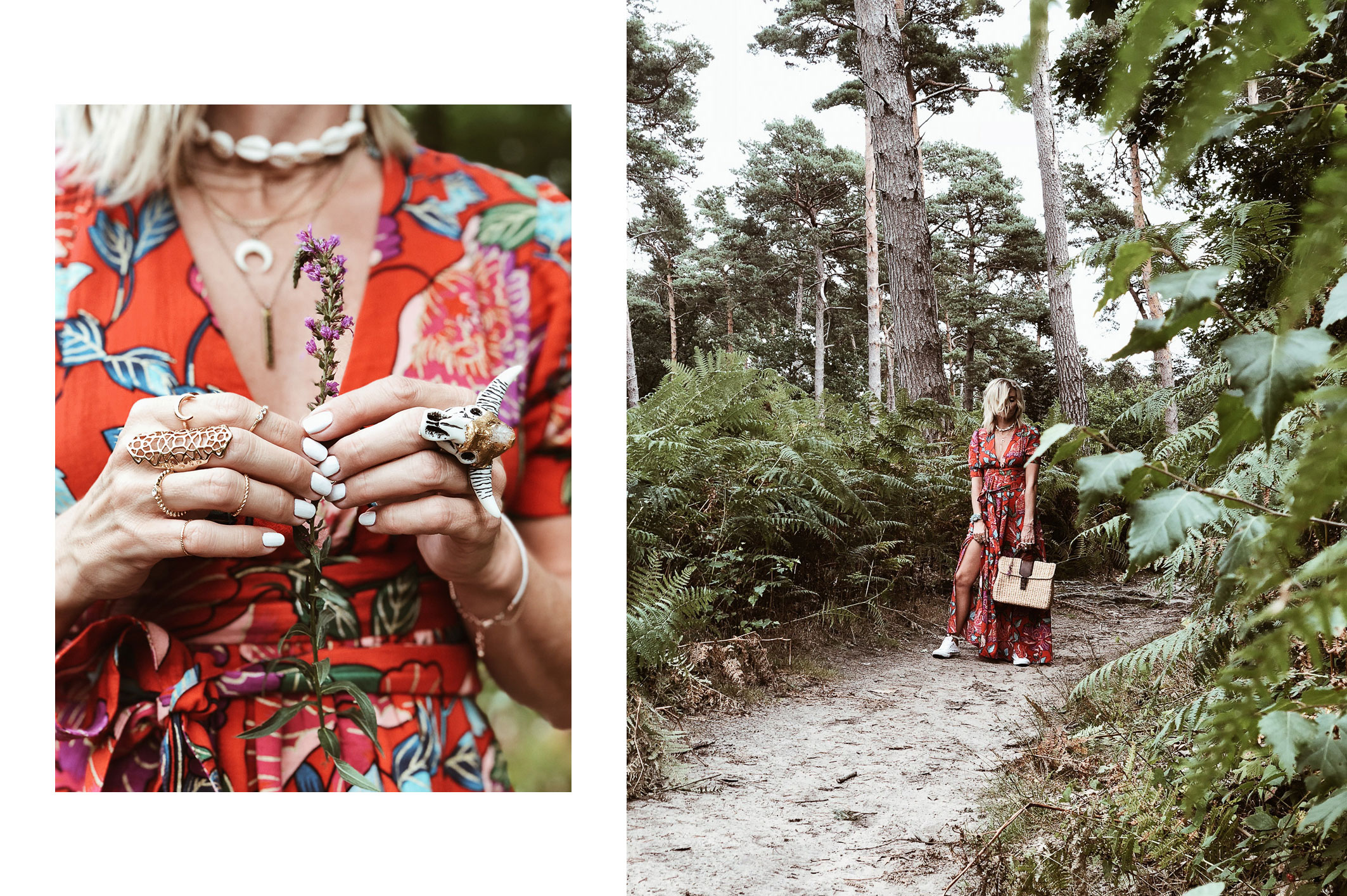 Carnet Sauvage - Blog mode et tendaces, idée look bohème, robe longue à fleurs &other stories
