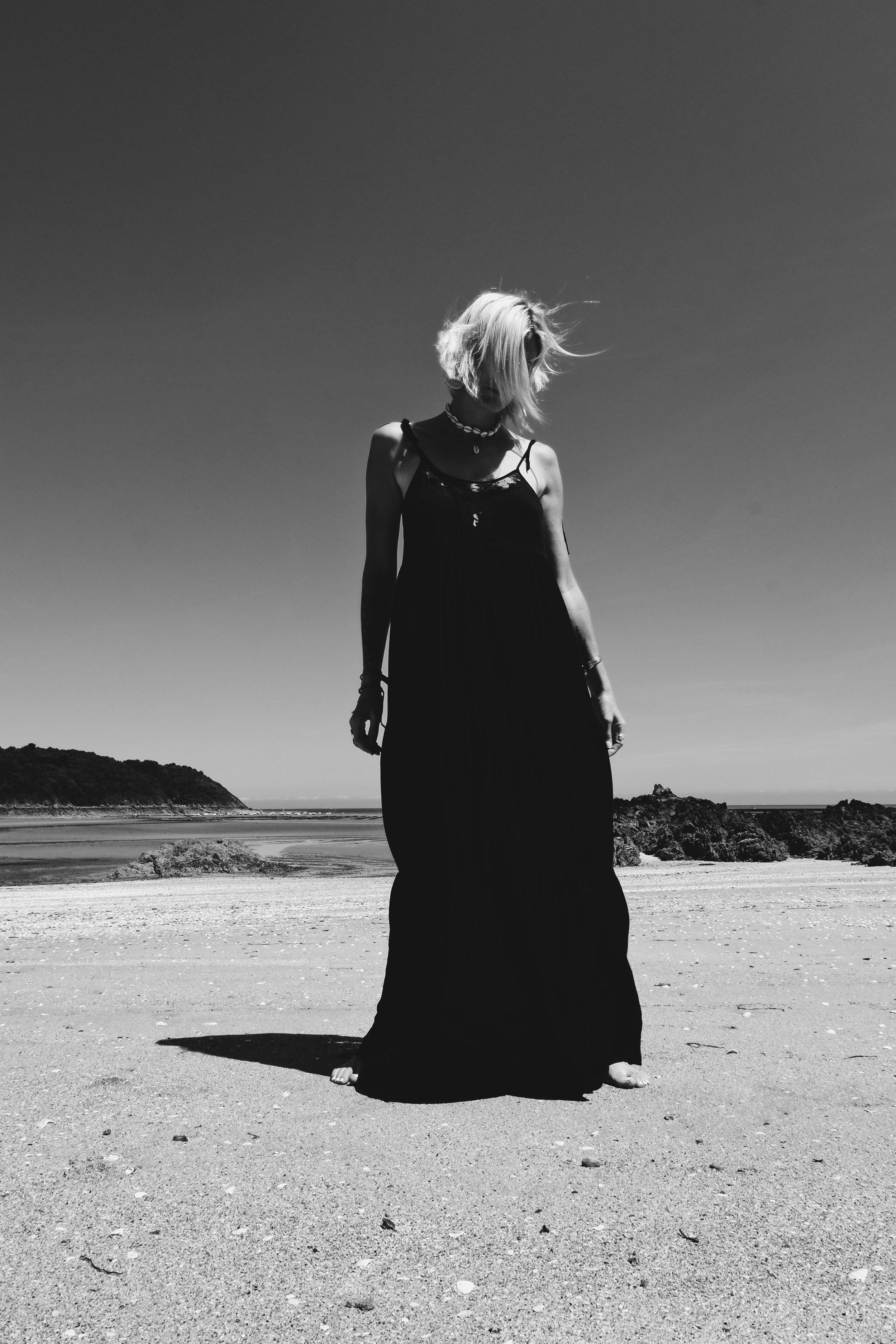 Carnet Sauvage - robe longue noire Stradivarius5.JPG