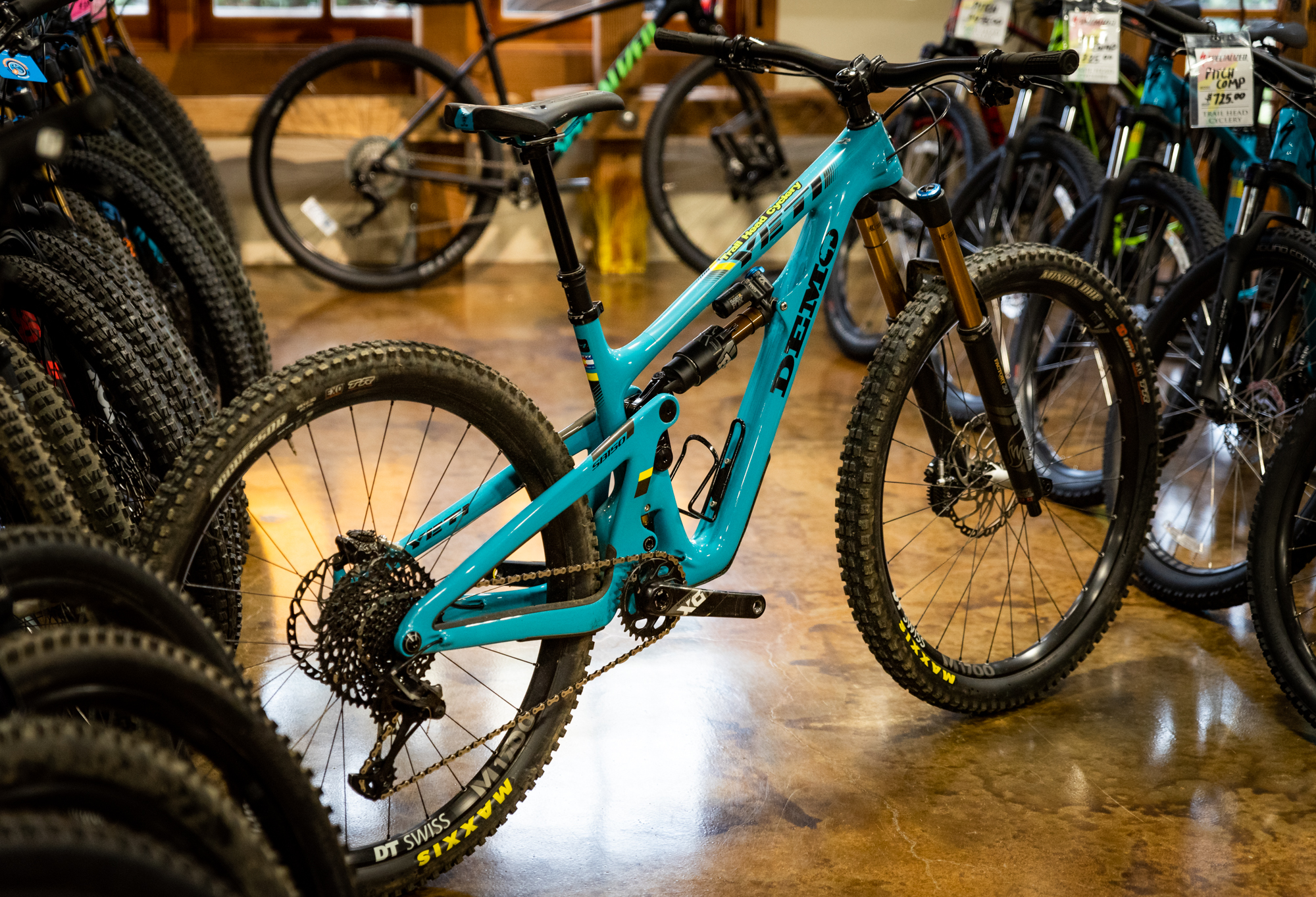 The Yeti SB150, one of the many high-end rentals we offer.