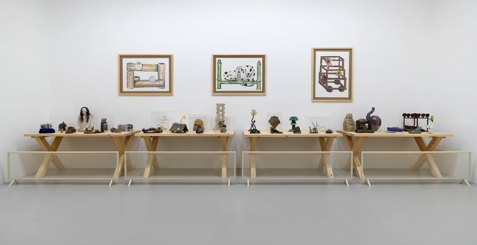 That Continuous Thing:     Artists & The Ceramic Studio     1920-Today   Installation view  Tate St. Ives  2017  Curator