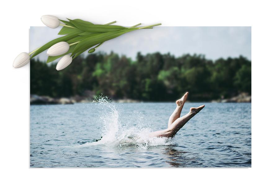 Eget badeområde - Oddenfest ligger perfekt plassert ved hele Hamars basseng. Hva er vel bedre enn en avkjølende dukkert i sommervarmen?