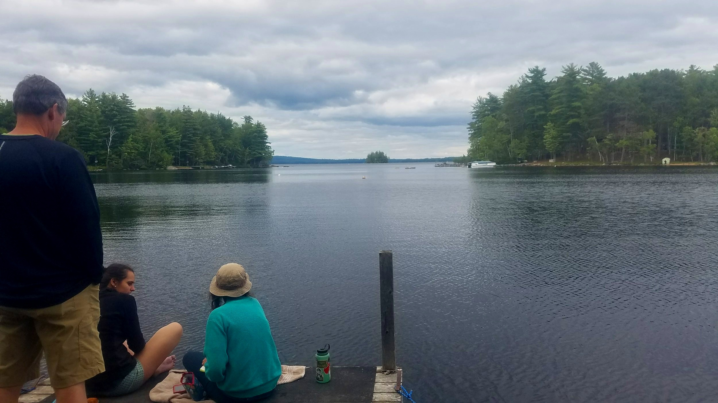 Looking out over Moose Lake