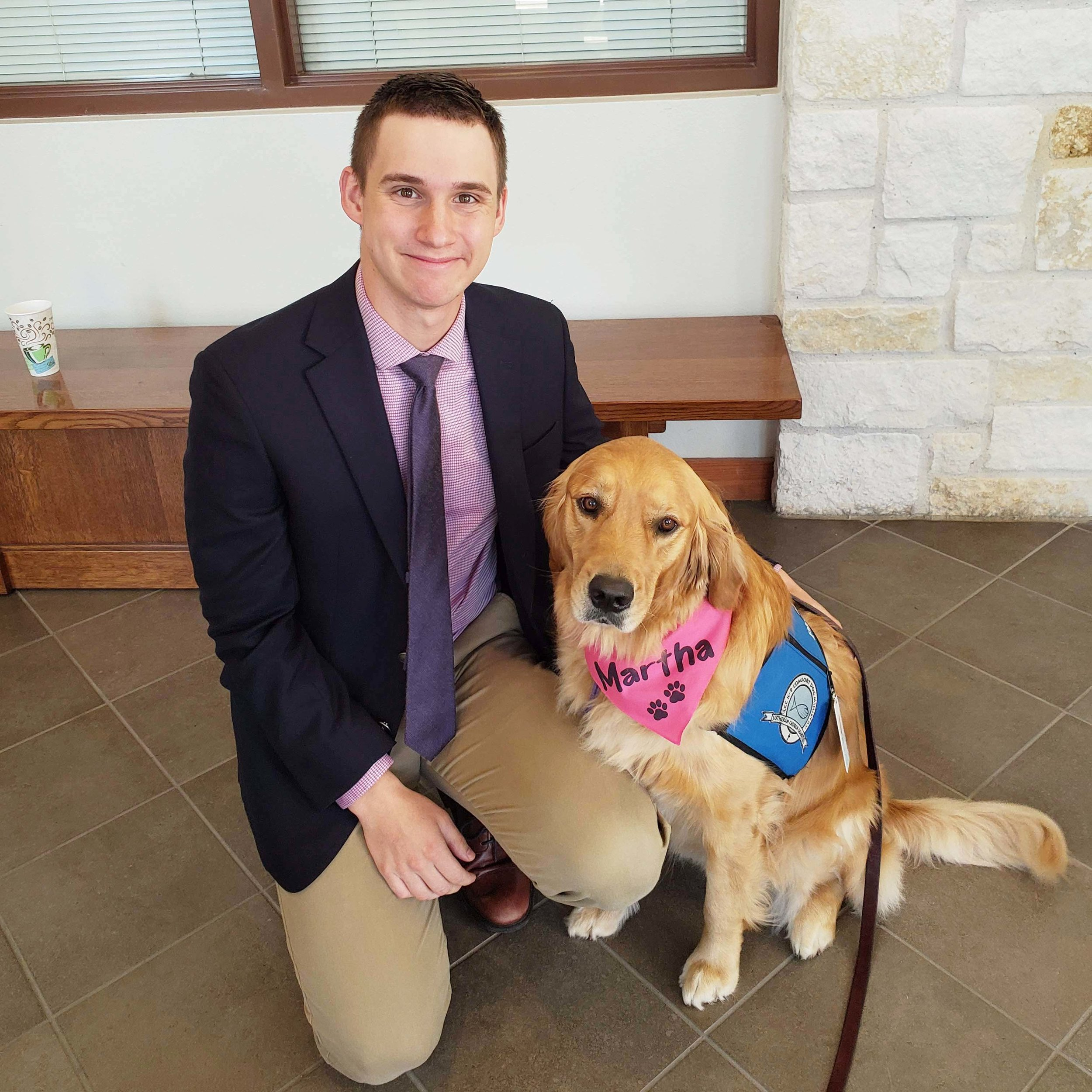Supporting Comfort Dogs - We are partnering with the Lutheran Church Charities to help support their K-9 Comfort Dog Ministry