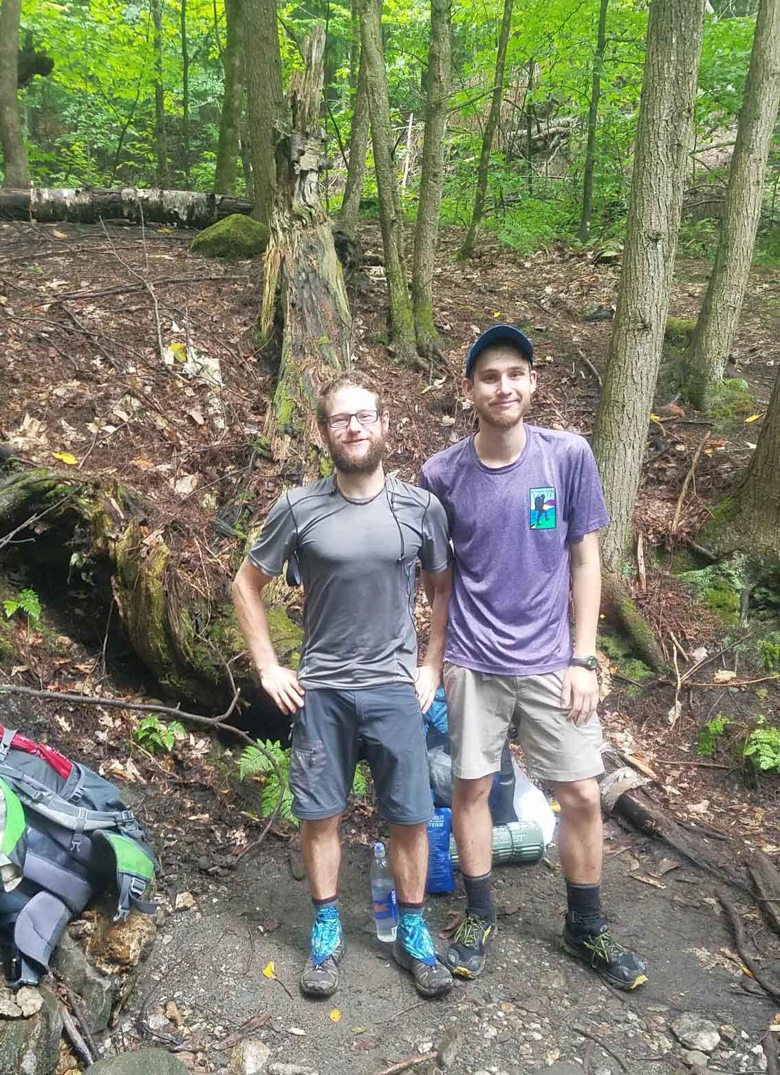 Blitz and Matthew Hiking on the Appalachian Trail