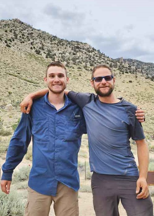 Blitz and Matthew Reunited on the Pacific Crest Trail