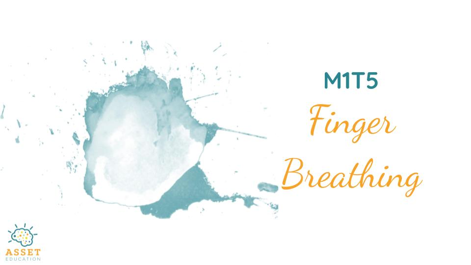 Try out this sample Mindfulness breathing exercise at home! Finger Breathing is a great way for children (and adults!) to incorporate calming, breathing exercises into their everyday lives.