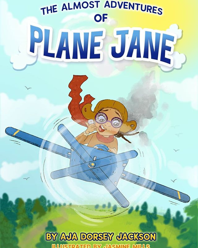 This is the story of a girl named Jane Who set off for a ride in her bright blue plane. Jane and her plane took to the sky And this is the tale of how she knew she could fly!  Introducing my new book to the world--coming this fall. Perfect for ages 4-7. Release date coming soon. ✈ * * * #childrensbooks #picturebooks #weneeddiversebooks