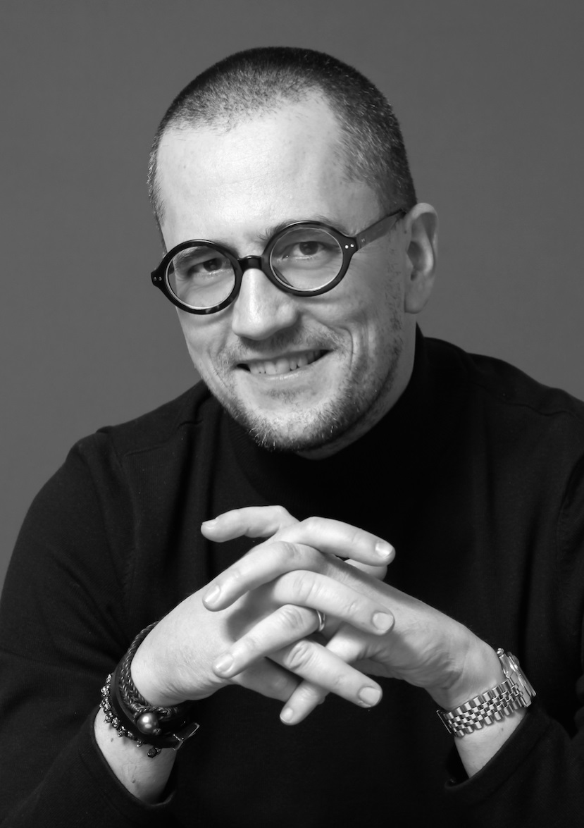 """Pierre Gervois, Producer and Host of """"The Face of America"""" interview series. (Photography: Cécile Vaccaro, New York City, 2017)"""