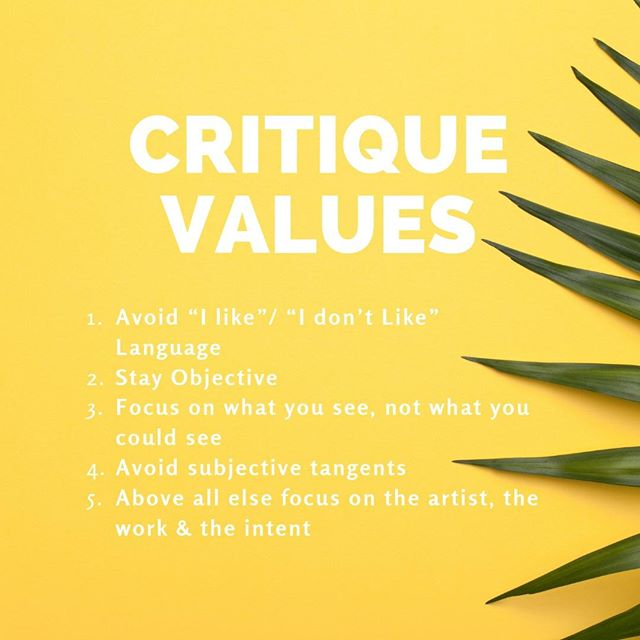 Our values help us from getting too sharp!🍍 This Tuesday our last critique kicks-off and we can't wait to see the sweetness in your studio!!!  #Critiques are a great resource for incubating ideas, developing working concepts and better understanding personal intention. We love diving deep and identifying areas of strength in all kinds of creative ideas and further establishing best practice for creative successful finished work.   TWO WAYS TO ENGAGE: Rsvp to bring your opinion OR fill out the quick critique form to bring your work. #linkinBio  _____________________________________________________ #CART #CreativesatRoundishTables #CART2k19 #CriticalDiscourse #ArtistTalk #MoeGram #OdessaNomadic #ArtsIncubator #DenverArts #ForCreatives #DenverCreatives #SupportiveArts #Collaboration #IllestGrammer