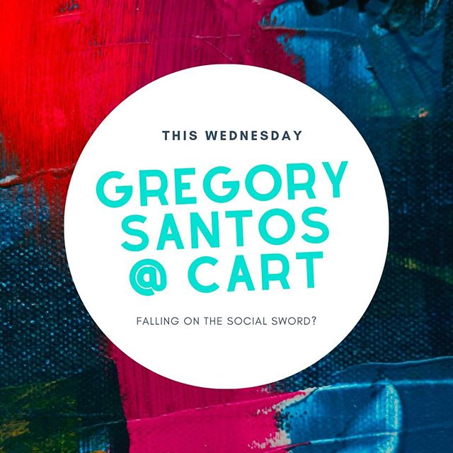 We've got a few seats left! ⚔️⁠ Gregory Santos is the Printmaking Director at Art Gym Denver and the Chair of Mo'Print. He is an abstract artist specializing in lithography and screen printing and is bringing us the topic: Falling on the Sword! ⁠Wanna claim your seat!? This is a MUST RSVP event and we still have a spot for you #linkinbio  _____________________________________________________ #CART #CreativesatRoundishTables #CART2k19 #CriticalDiscourse #ArtistTalk #MoeGram #OdessaNomadic #ArtsIncubator #DenverArts #ForCreatives #DenverCreatives #SupportiveArts #Collaboration #IllestGrammer