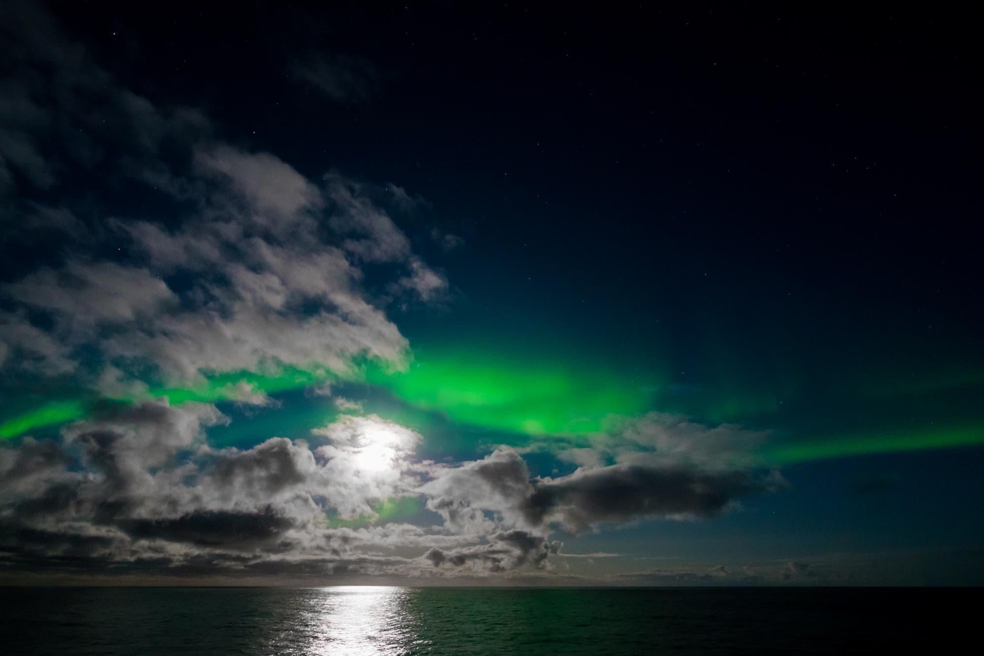 Moon Meets Aurora