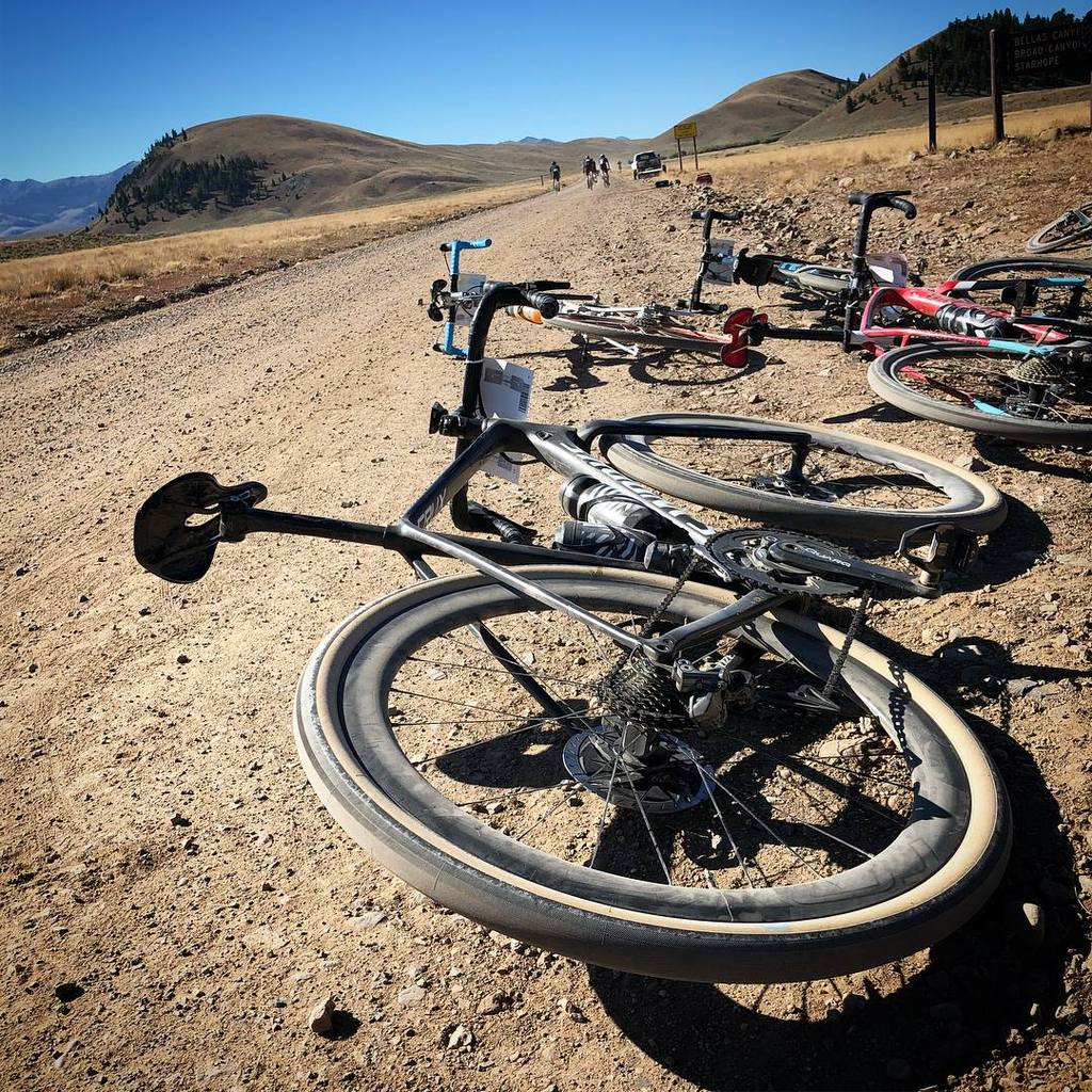 Our Specialized bikes were great on these gravel roads. Specialized S-Works Crux.