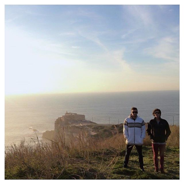 The two Boarded brothers standing in one of the most famously photographed points in surfing. . . #boardedprotection #surf #surfcase #travel #nazare #portugal