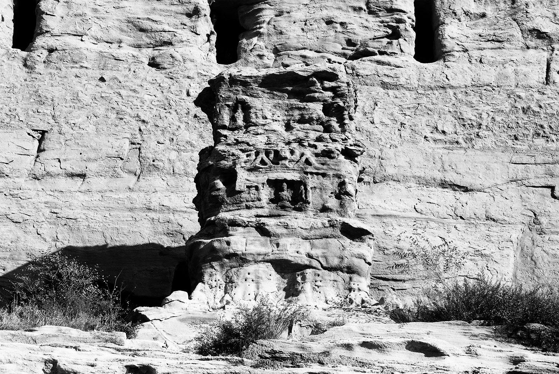 Stone pagoda pillar at Cave No. 03