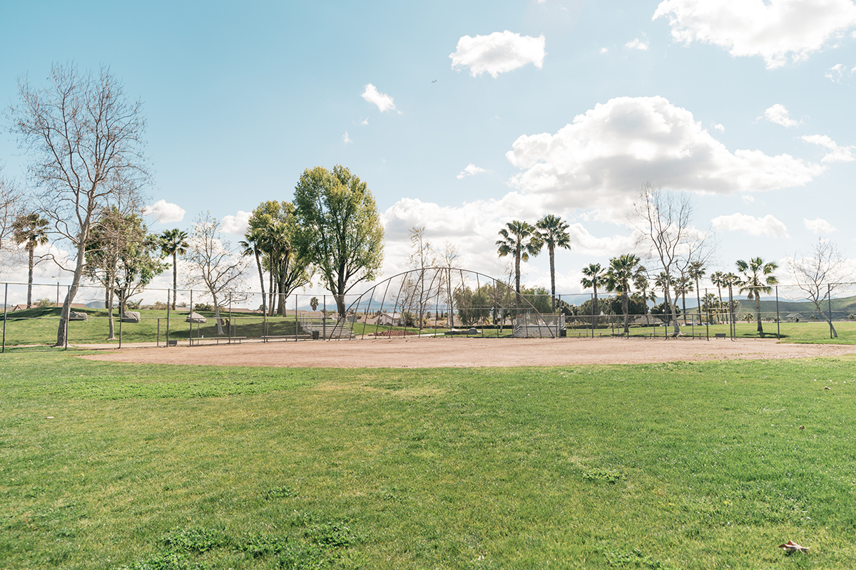 Baseball field for family games