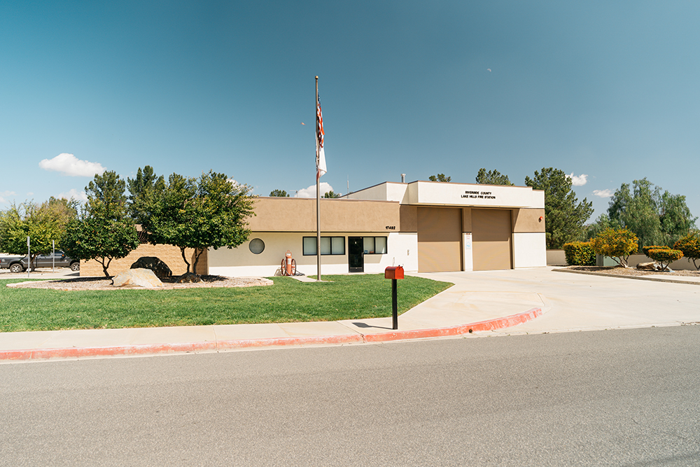 Lake Hills Riverside County Fire Department Station 82 is located inside the community.