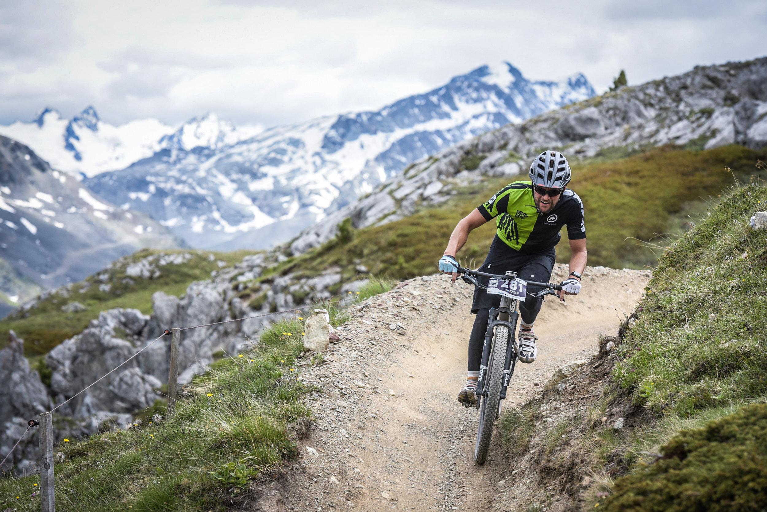 Johan rides Engadin Bike Giro