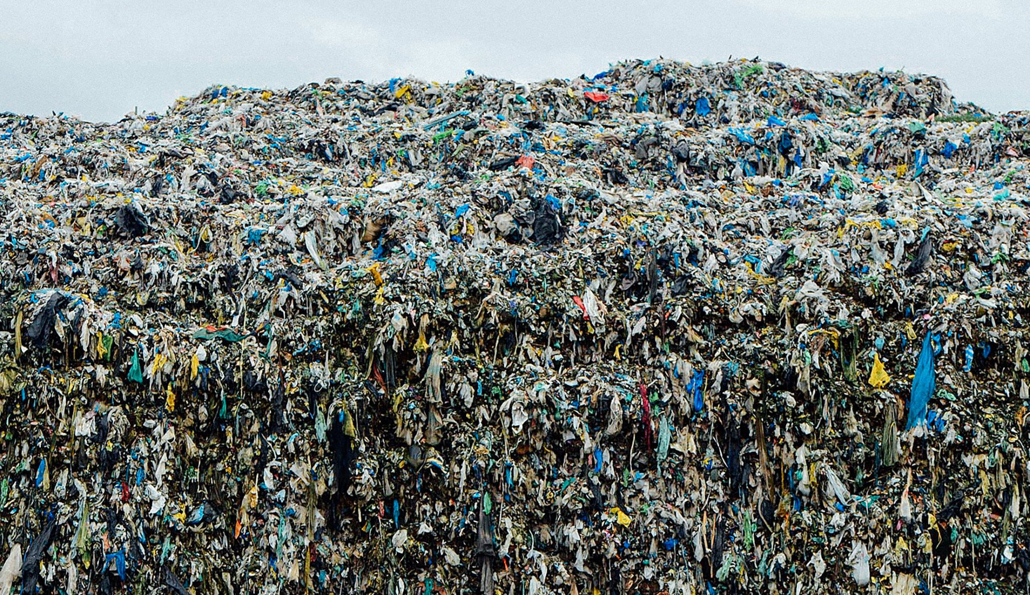 Used Clothing Dump Site in Manila, Philippines