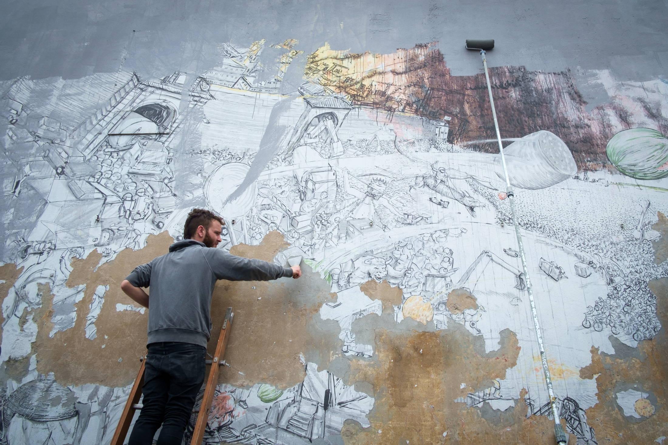 #Blu erase all the murals in Bologna