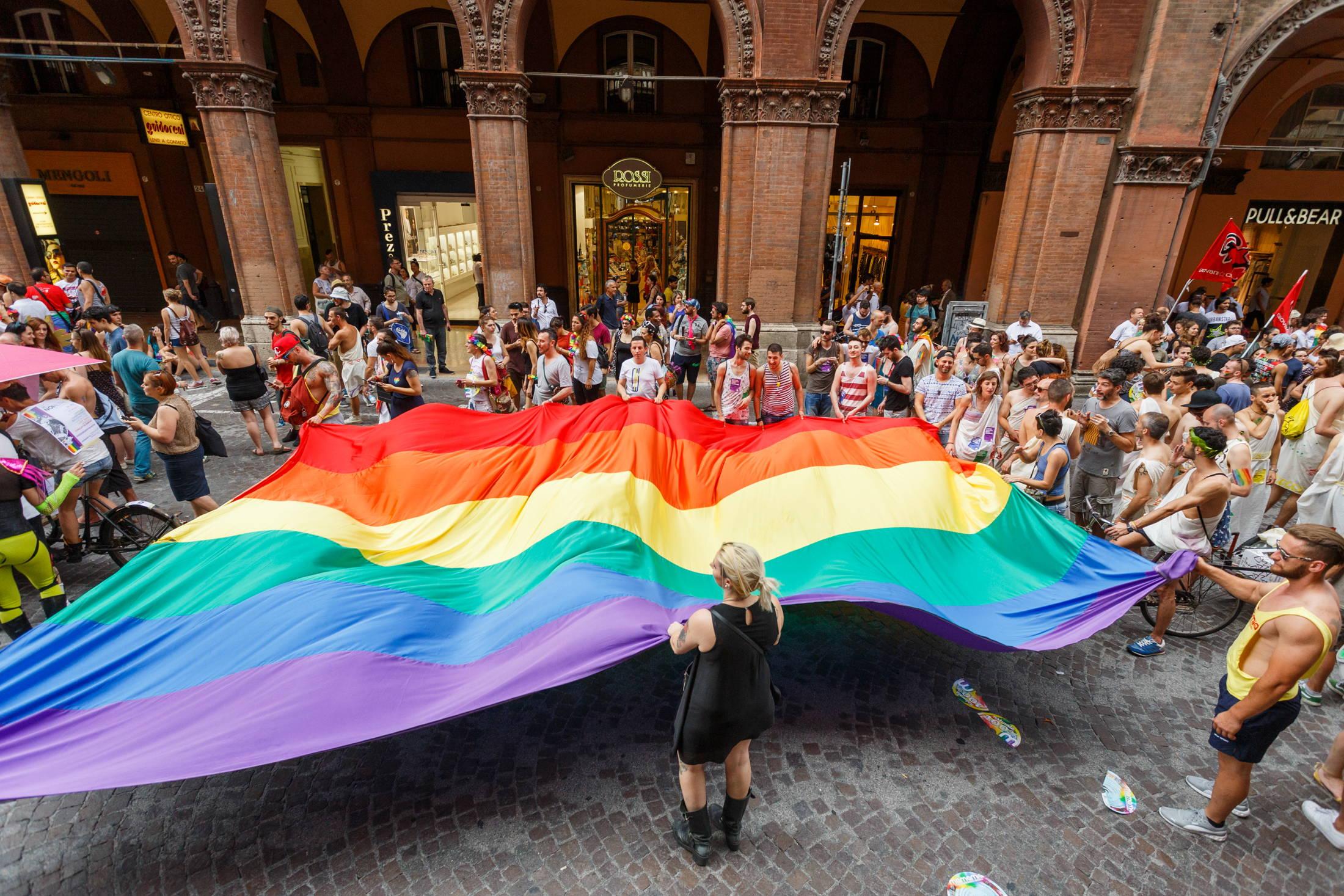 The LGBT Pride in Bologna